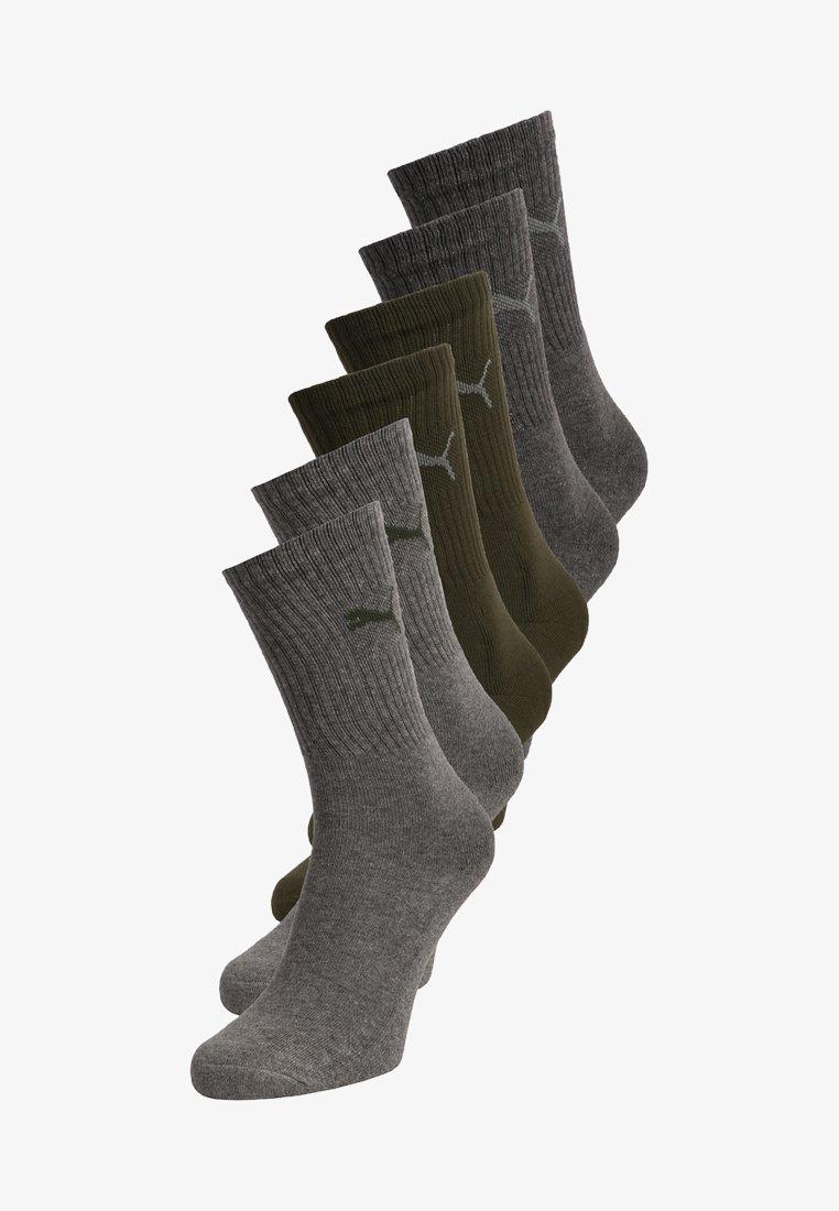 Puma - SPORT 6 PACK - Chaussettes de sport - green/grey