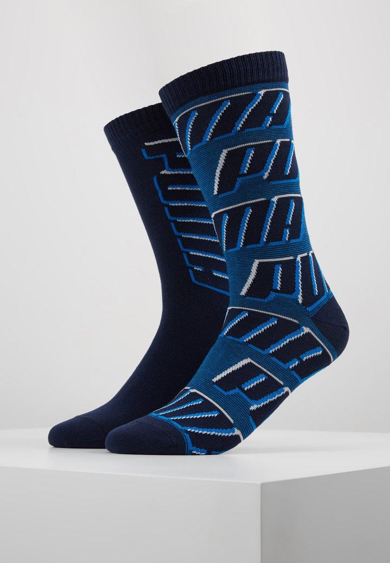 Puma - ALL OVERLOGO 2 PACK - Calze sportive - light grey / blue