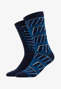 Puma - ALL OVERLOGO 2 PACK - Calze sportive - light grey / blue - 1