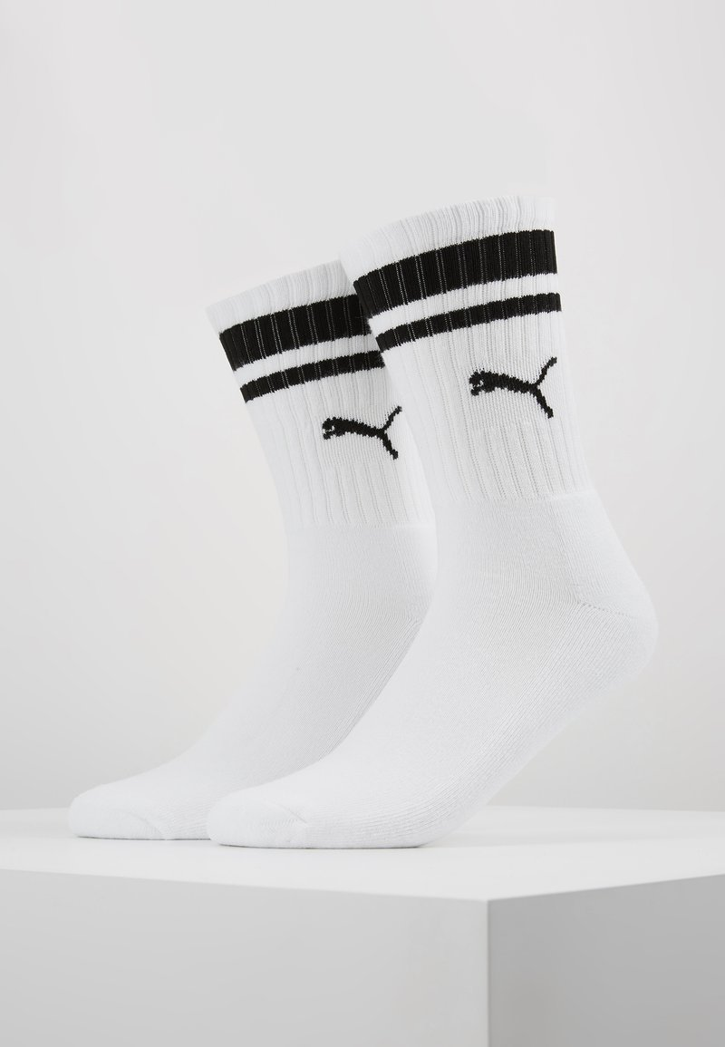 Puma - CREW HERITAGE STRIPE  2 PACK - Socken - white