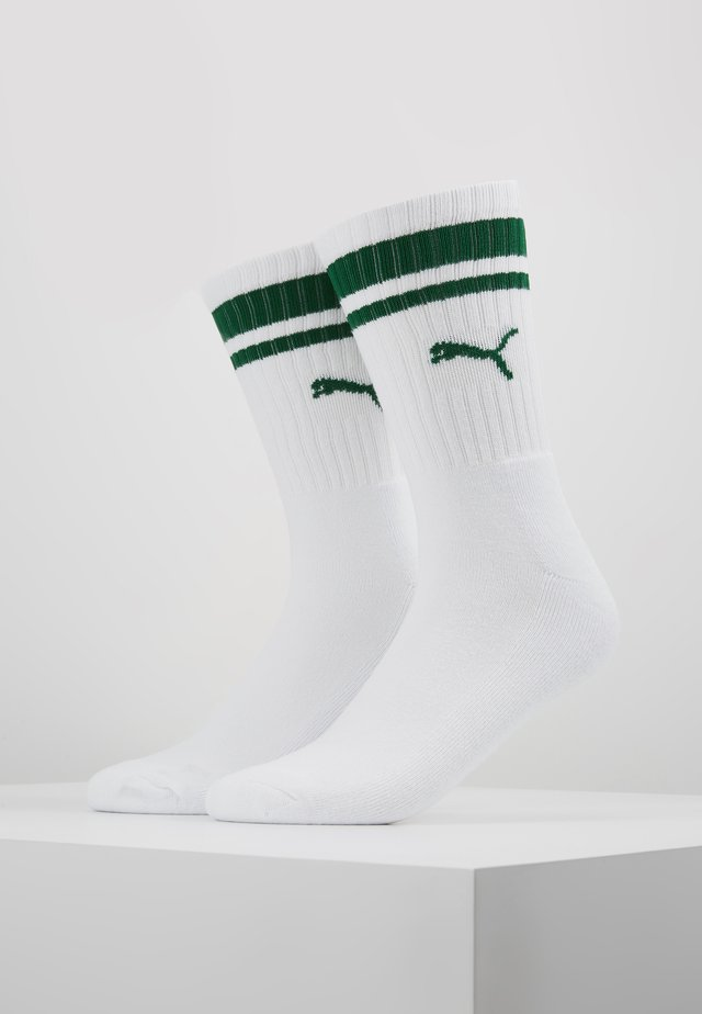 CREW HERITAGE STRIPE  2 PACK - Chaussettes - white / green