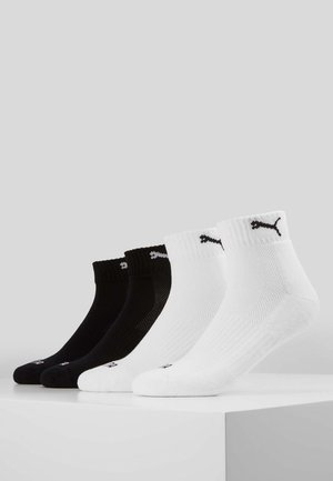 PUMA CUSHIONED QUARTER 4P UNISEX - Sports socks - black