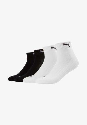 PUMA CUSHIONED QUARTER 4P UNISEX - Sports socks - black