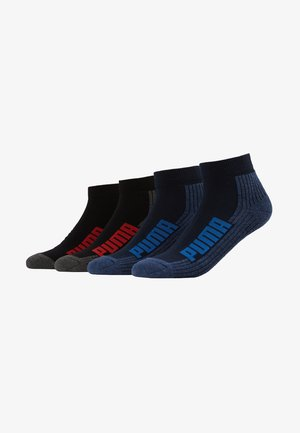 CUSHIONED QUARTER 4 PACK - Chaussettes de sport - navy/grey/strong blue