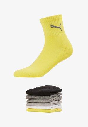 SHORT CREW UNISEX 6 PACK - Sportovní ponožky - yellow