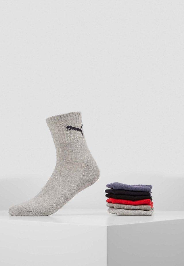 SHORT CREW UNISEX 6 PACK - Sportovní ponožky - black/red