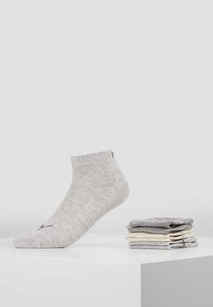 PUMA UNISEX QUARTER PLAIN 6P - Sportsocken - light grey melange