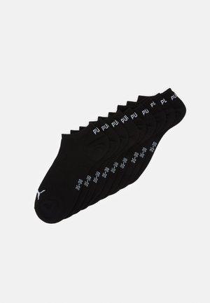UNISEX SNEAKER PLAIN 9 PACK - Calcetines tobilleros - black