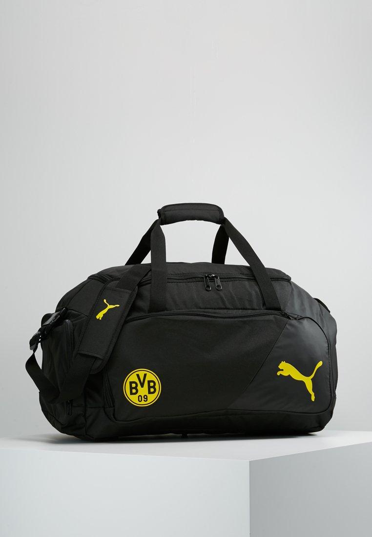 Puma - BVB BORUSSIA DORTMUND LIGA MEDIUM  - Sports bag - black/cyber yellow