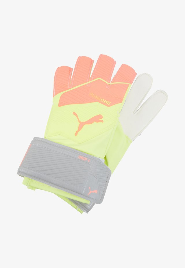 ONE GRIP  - Goalkeeping gloves - peach fizzy /yellow/white