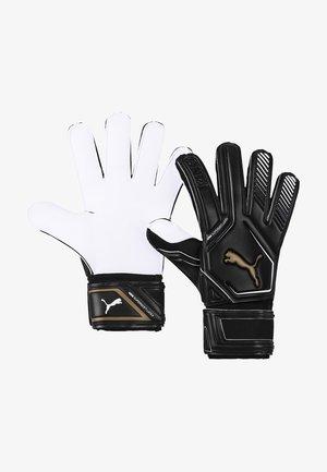 Goalkeeping gloves - black-gold- white