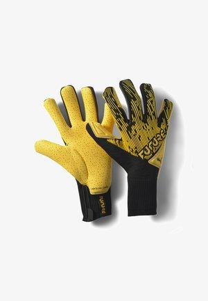 Goalkeeping gloves - ultra yellow-black-white