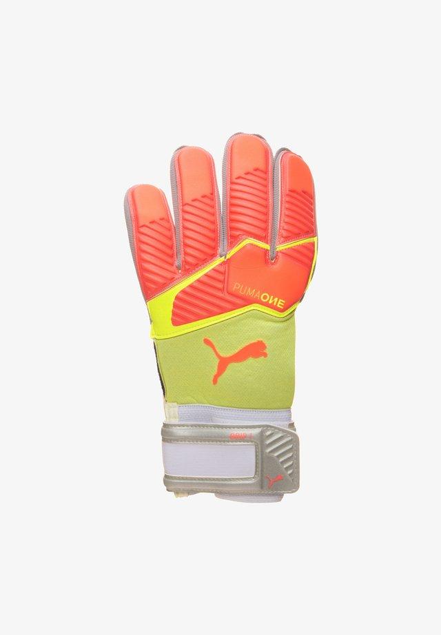 ONE GRIP 1 RC  - Goalkeeping gloves - energy peach / fizzy yellow / puma white