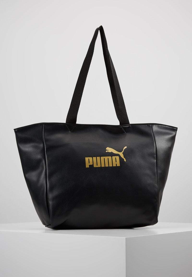 Puma - CORE UP LARGE SHOPPER - Shopping Bag - black/gold