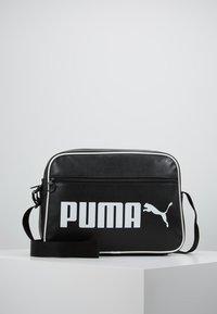 Puma - CAMPUS REPORTER RETRO - Umhängetasche - puma black - 0