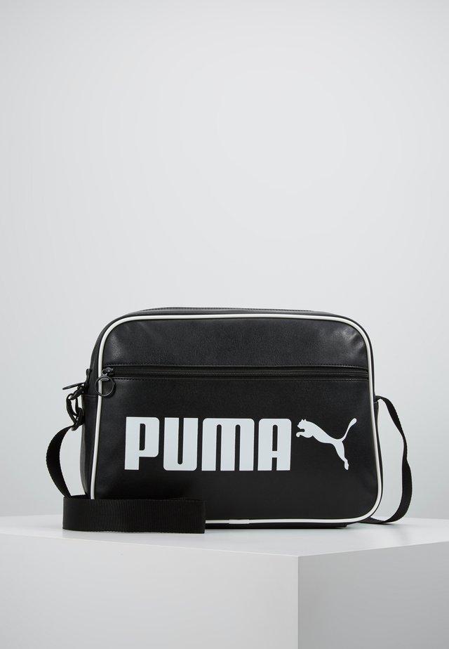 CAMPUS REPORTER RETRO - Across body bag - puma black