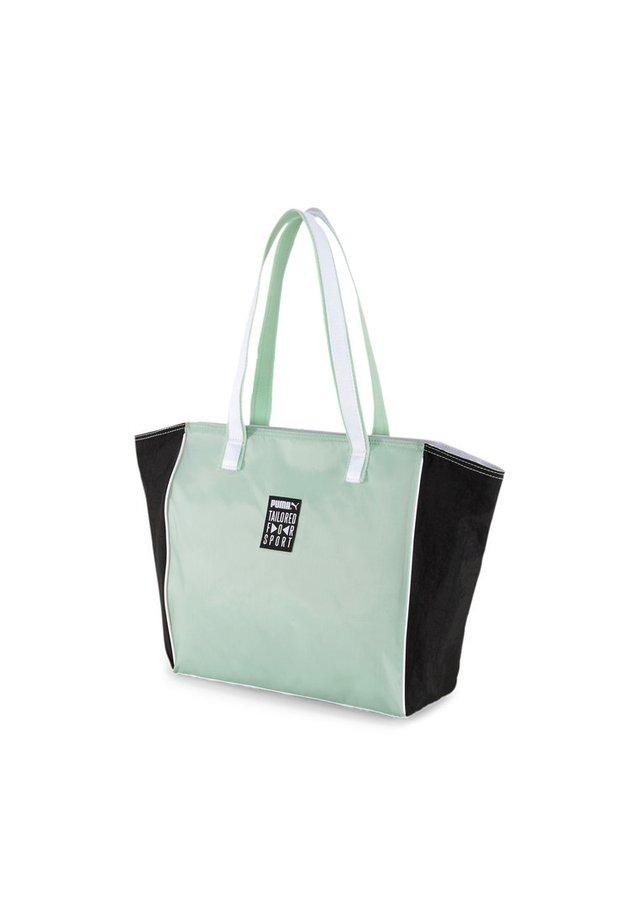 STREET - Tote bag - mist green-black-white