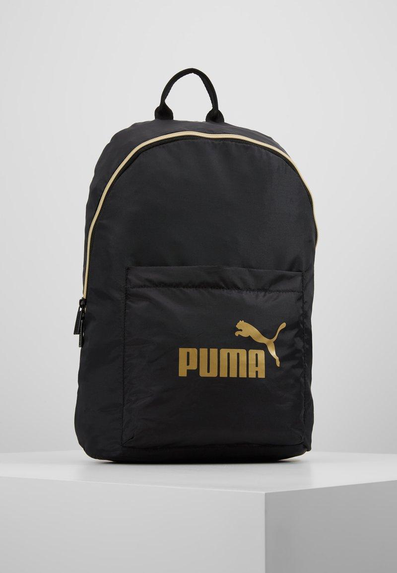 Puma - CORE SEASONAL BACKPACK - Rugzak - black/gold