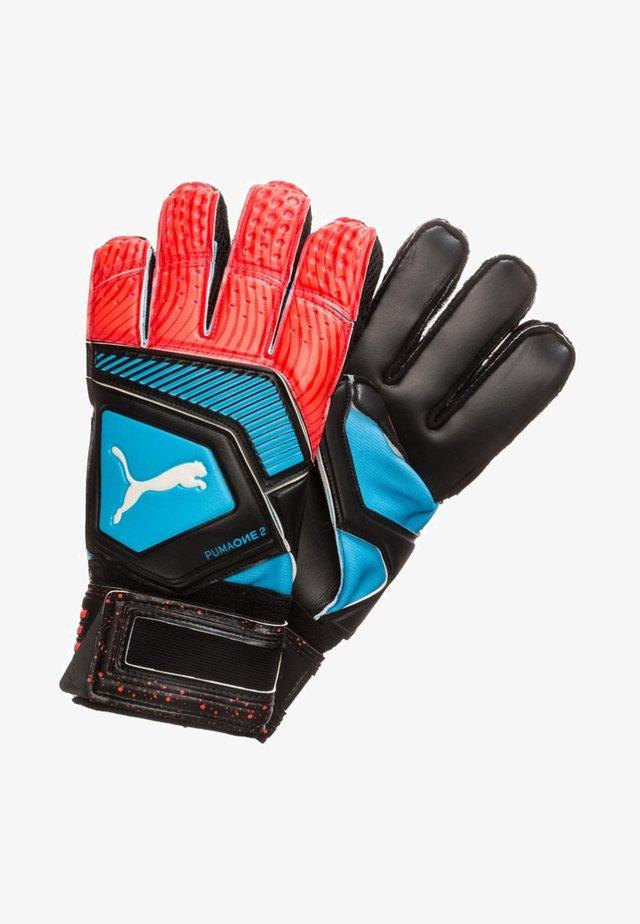 Gloves - Azure blue/red blast/puma black