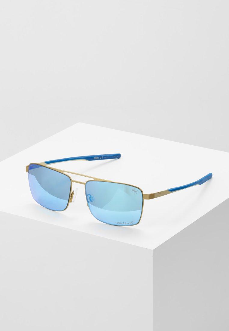 Puma - Sonnenbrille - gold-coloured/blue