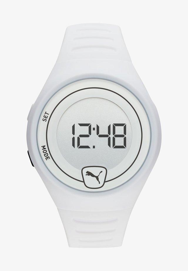 FASTER - Digital watch - white