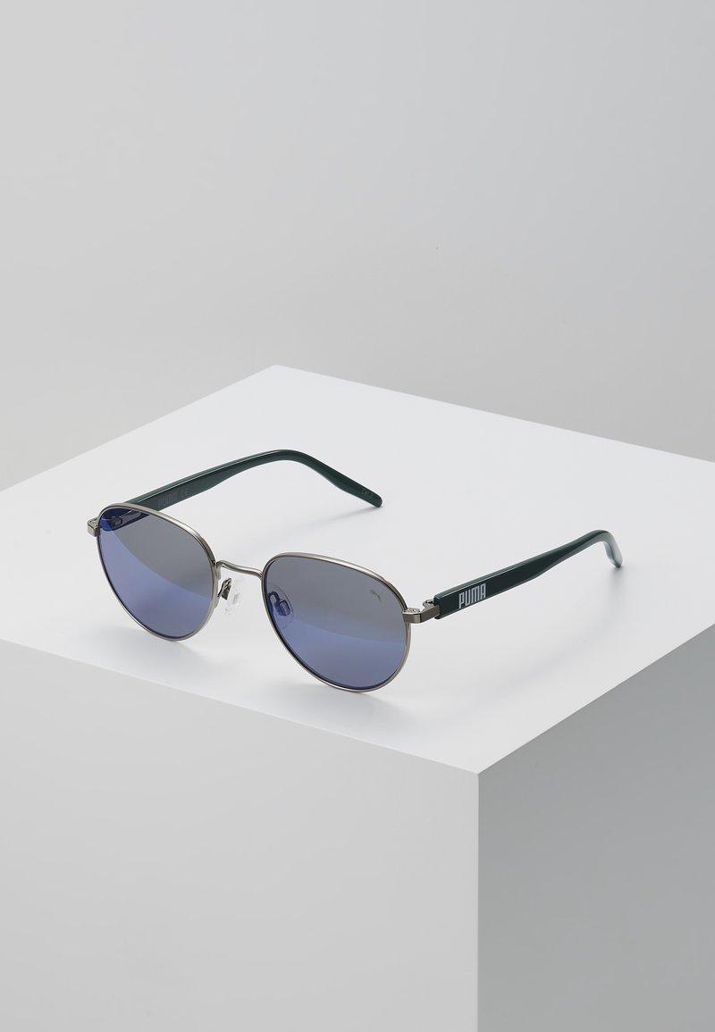Puma - SUNGLASS KID - Sunglasses - ruthenium/green/blue