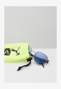 Puma - SUNGLASS KID - Sunglasses - ruthenium/green/blue - 1