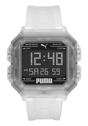 Digital watch - transparent