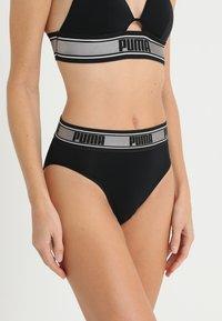 Puma - HIGH LEG BRIEF HANG - Slip - black/silver - 0