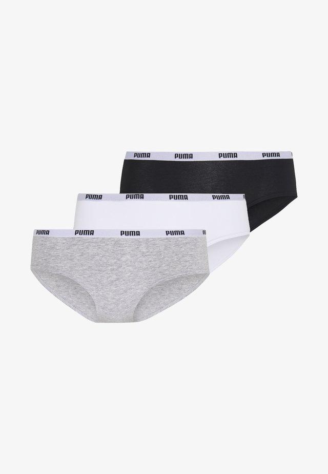 HIPSTER 3 PACK - Slip - white/grey/black