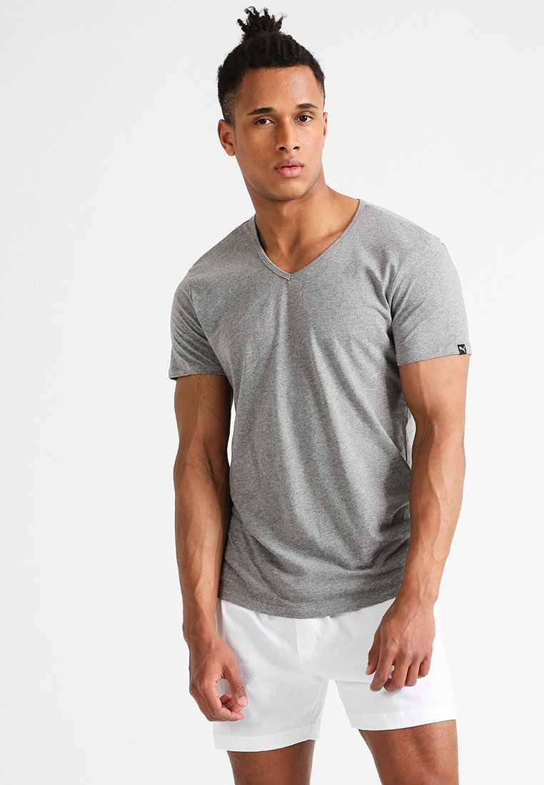 Puma - 2 PACK - Unterhemd/-shirt - middle grey melange