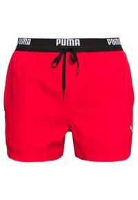 Puma - SWIM MEN LOGO SHORT LENGTH - Bañador - red - 0