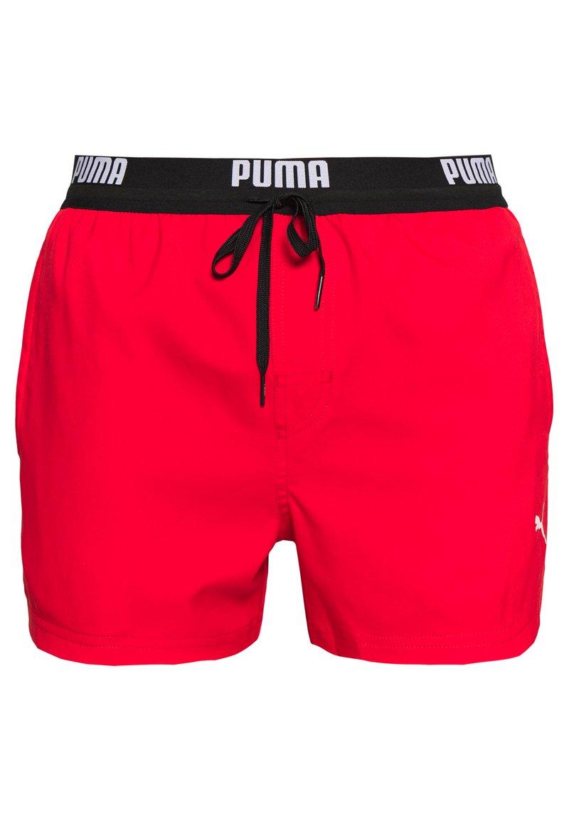 Puma - SWIM MEN LOGO SHORT LENGTH - Bañador - red