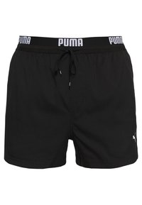Puma - SWIM MEN LOGO SHORT LENGTH - Bañador - black - 0
