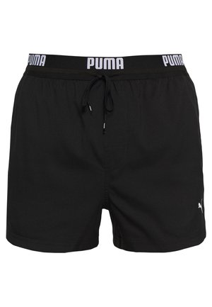 SWIM MEN LOGO SHORT LENGTH - Swimming shorts - black