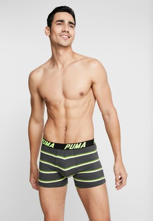 BASIC BOXER 2PACK - Shorty - black/grey/green