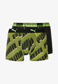 Puma - PUMA BASIC BOXER WORDING 2 PACK - Underkläder - black/grey/green - 3