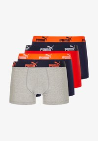 Puma - BASIC NUMBER1 BOXER 4 PACK - Underkläder - red/navy - 3