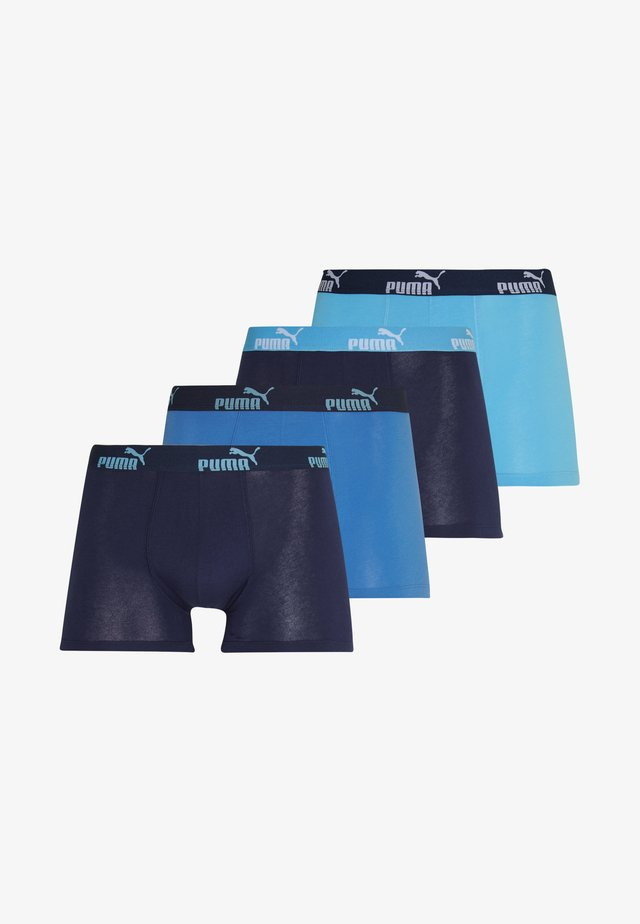 PROMO SOLID 4 PACK - Boxerky - blue combo