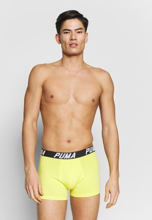 SPACEDYE STRIPE BOXER 2 PACK - Onderbroeken - yellow / grey