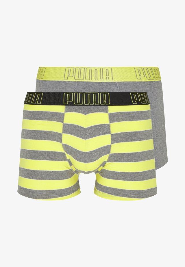 BOLD STRIPE BOXER 2 PACK - Underbukse - yellow/grey melange