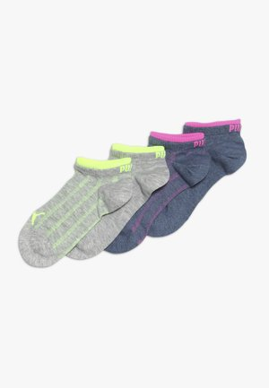 GIRLS SNEAKER 4 PACK - Calze - mid grey
