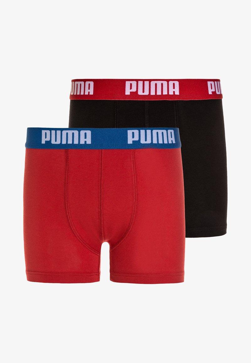 Puma - BASIC BOXER 2 PACK - Panties - red/black