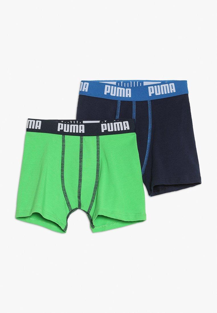 Puma - BASIC BOXER 2 PACK - Panties - green/navy