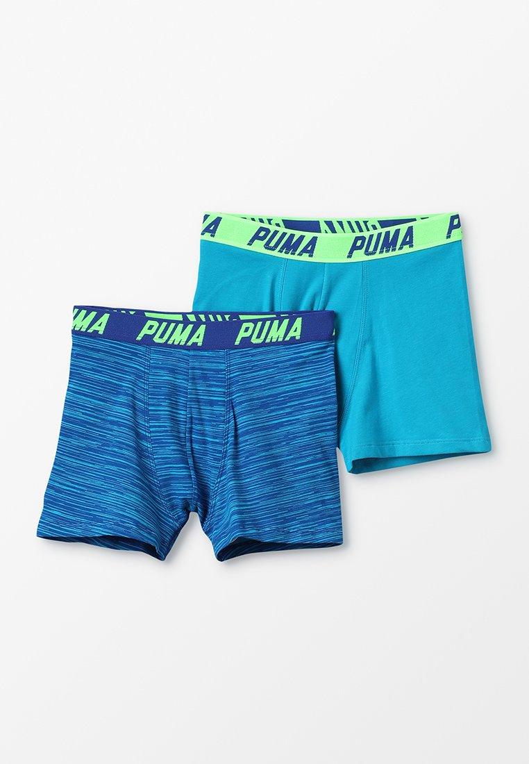 Puma - BASIC BOXER SPACE DYE 2 PACK - Panties - aqua/blue