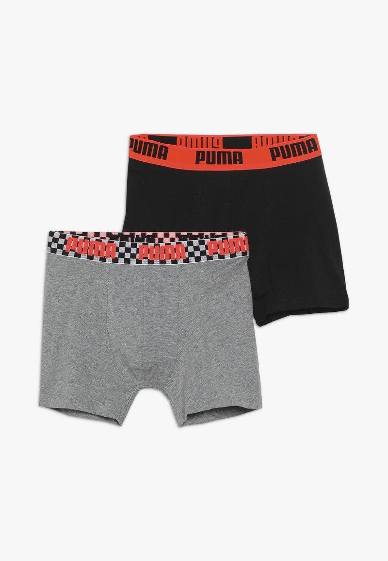 Puma - SEASONAL RACE BLOCKS BOYS 2 PACK - Panties - grey melange/black