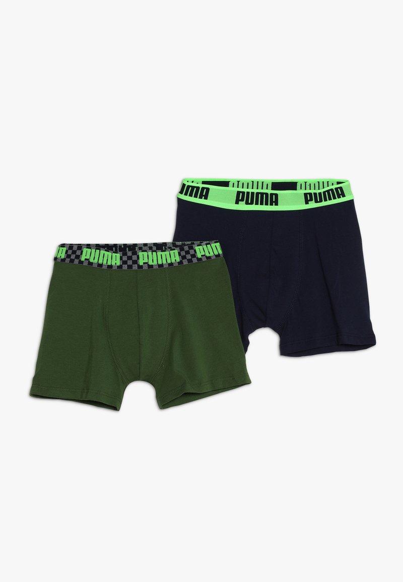 Puma - SEASONAL RACE BLOCKS BOYS 2 PACK - Panties - navy/green