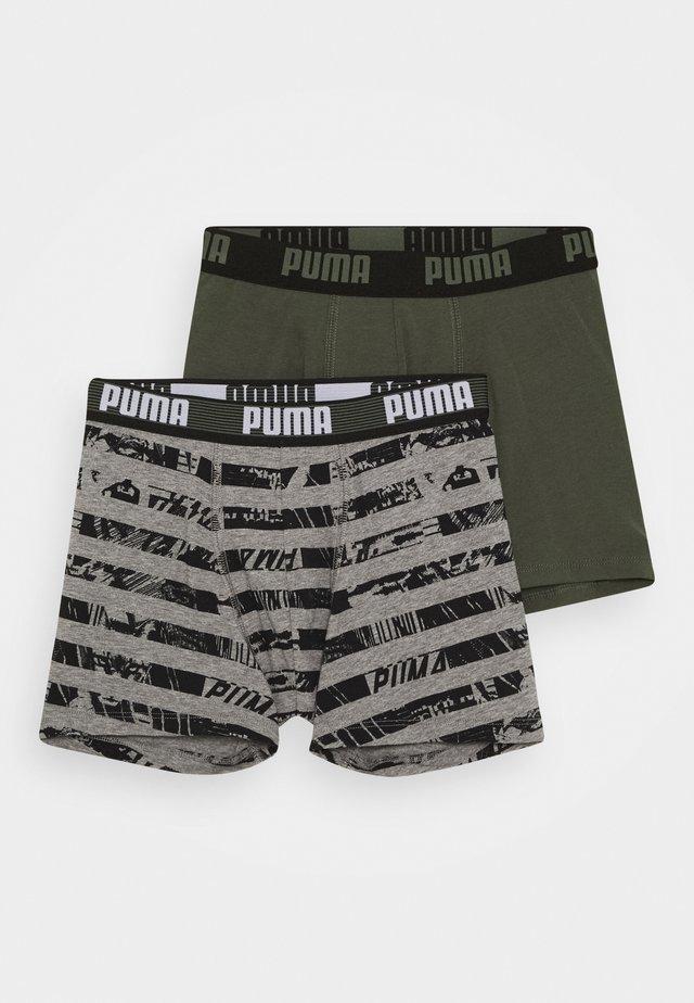 KIDS COLLAGE STRIPE BOXER 2 PACK - Panties - grey