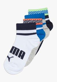 Puma - BOYS QUARTER 4 PACK - Socks - blue/grey - 0
