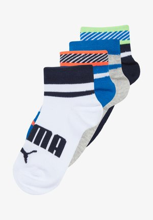 BOYS QUARTER 4 PACK - Chaussettes - blue/grey